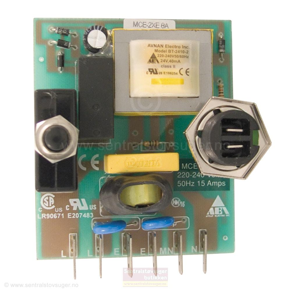 Styrestrømskort / kretskort for sentralstøvsuger ELECIR02