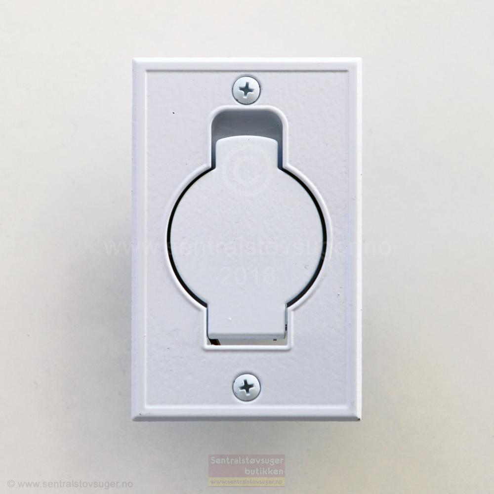 Sugekontakt 08.: Hvit metall flat innfelt