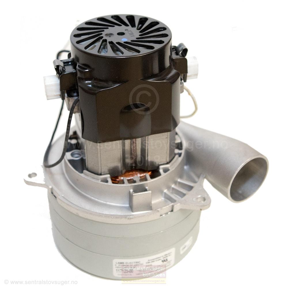 Motor for sentralstøvsugere med 3-stegs turbin med konsentrert utblåsning 14,5cm