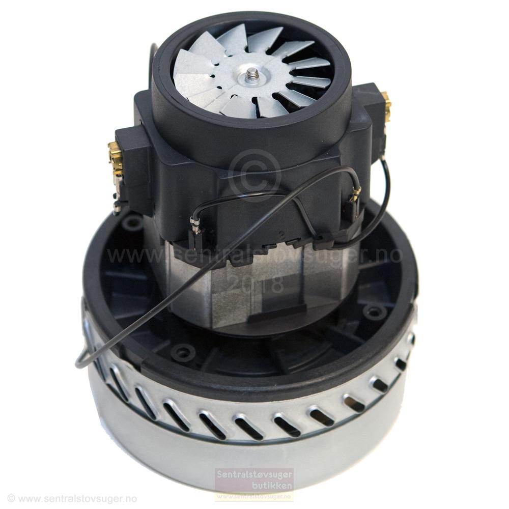 Motor for sentralstøvsugere med 2-stegs turbin med bypass 14,5cm