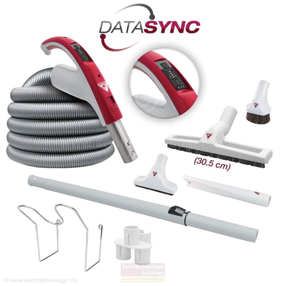Slange /børstesett med DataSync display på håndtaket