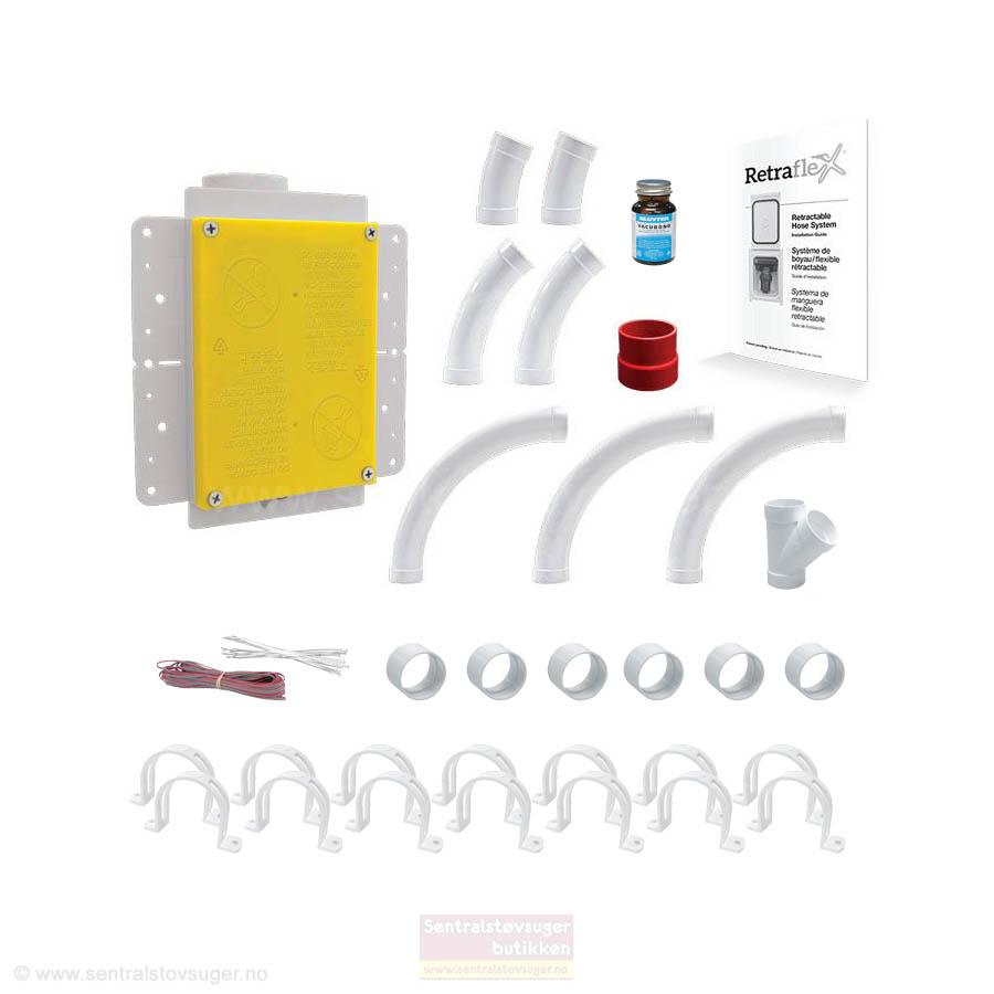 Basic Installasjonspakke 02 med ekstra delepakke for Retraflex slangesystem -