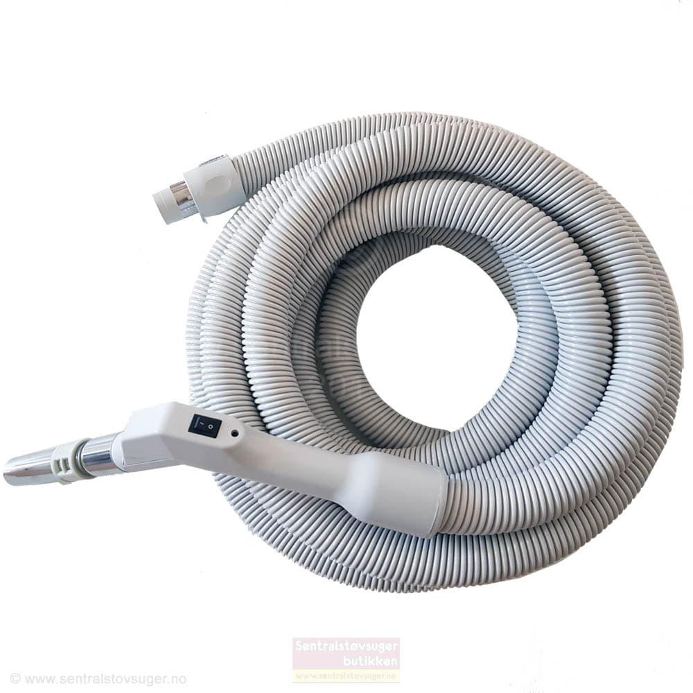 Plastiflex Slange med start / stoppbryter på håndtaket. Original slange til sentralstøvsugere